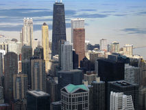 De horizon van Chicago van de binnenstad stock foto