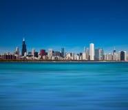 De Horizon van Chicago van Meer Michigan Royalty-vrije Stock Foto's