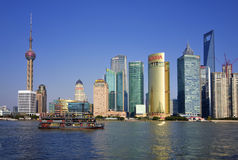 De Horizon van China Shanghai Royalty-vrije Stock Foto's