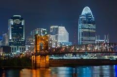 De horizon van Cincinnati. Stock Foto's