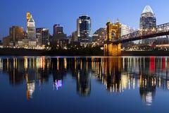 De horizon van Cincinnati. Royalty-vrije Stock Afbeelding
