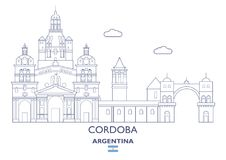 De Horizon van Cordoba Cty, Argentinië royalty-vrije illustratie