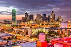 De Horizon van Dallas Texas Royalty-vrije Stock Afbeeldingen