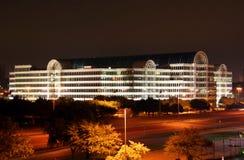 De Horizon van Dallas Texas bij Nacht Stock Afbeeldingen