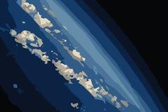De Horizon van de aarde van RuimteIllustratie JPEG en Vector Royalty-vrije Stock Fotografie