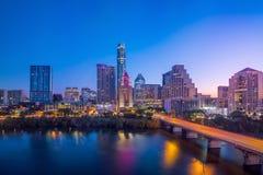 De Horizon van de binnenstad van Austin, Texas stock fotografie