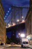 De Horizon van de Brug van Manhattan Royalty-vrije Stock Afbeelding