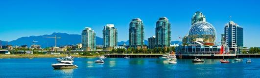De horizon van de de Wetenschapswereld van Vancouver Stock Foto