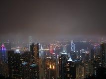 De Horizon van de Nacht van Hongkong Royalty-vrije Stock Foto's