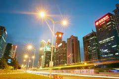 De horizon van de Shenzhenstad royalty-vrije stock afbeelding