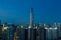 De horizon van de Shenzhenstad stock foto's