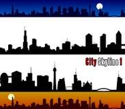 De Horizon van de stad [1] royalty-vrije illustratie