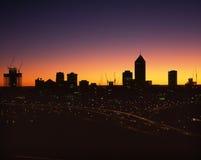 De Horizon van de stad Stock Foto's