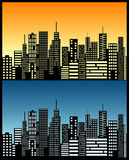 De horizon van de stad Stock Afbeelding
