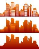 De horizon van de stad Stock Afbeeldingen
