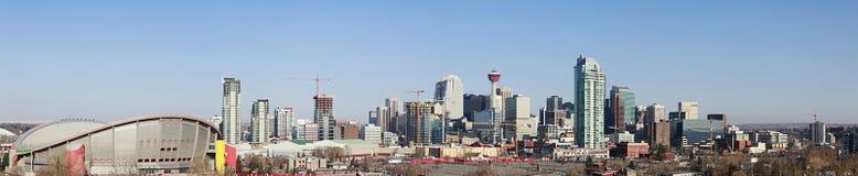 De horizon van de stad, Calgary, Alberta, Canada Stock Afbeelding