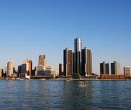 De horizon van de stad van Detroit Royalty-vrije Stock Foto's