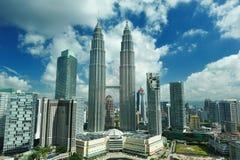 De horizon van de stad van Kuala Lumpur, Maleisië Stock Foto