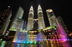 De horizon van de stad van Kuala Lumpur, Maleisië. Stock Fotografie