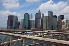 De Horizon van de Stad van New York Royalty-vrije Stock Foto