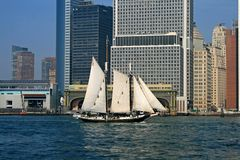 De horizon van de Stad van New York Royalty-vrije Stock Afbeelding