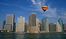 De horizon van de Stad van New York stock foto's