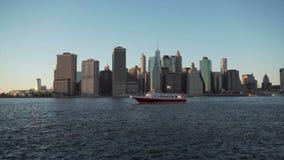 De Horizon van de Stad van New York stock video