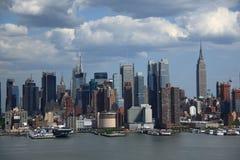 De Horizon van de Stad van New York Royalty-vrije Stock Foto's