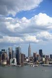 De Horizon van de Stad van New York Stock Afbeeldingen