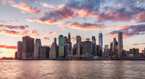 De Horizon van de Stad van New York Royalty-vrije Stock Foto