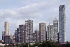 De horizon van de Stad van Panama, Panama. Stock Afbeelding