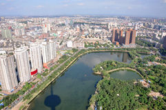 De Horizon van de Stad van Shenyang, Liaoning, China royalty-vrije stock foto's
