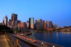 De horizon van de stad van Sydney, Australië. Stock Afbeelding
