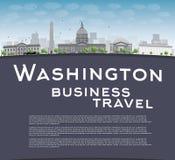 De horizon van de Washington DCstad met exemplaarruimte Stock Fotografie