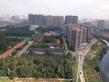 De horizon van de Wuhanstad Royalty-vrije Stock Fotografie