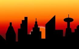 De horizon van de zonsondergang Stock Foto's
