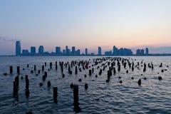 De horizon van de zonsondergang Royalty-vrije Stock Fotografie