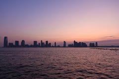 De horizon van de zonsondergang Stock Fotografie