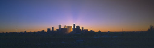 De horizon van Denver Stock Foto's