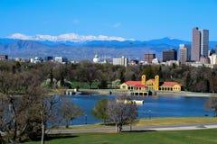 De horizon van Denver, Colorado Stock Foto