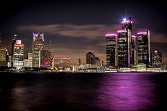 De Horizon van Detroit Royalty-vrije Stock Foto's