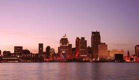 De horizon van Detroit Stock Foto's