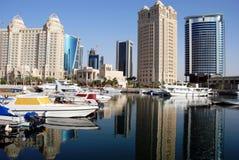 De Horizon van Doha stock afbeeldingen