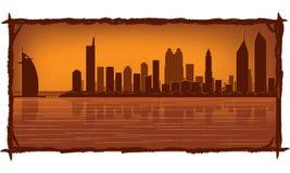 De horizon van Doubai royalty-vrije illustratie