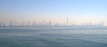 De Horizon van Doubai Stock Afbeeldingen
