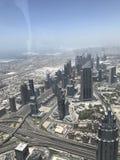 De horizon van Doubai van burj Khalifa stock afbeeldingen