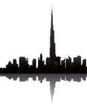 De horizon van Doubai met burj Doubai royalty-vrije illustratie