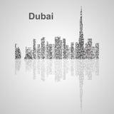 De horizon van Doubai voor uw ontwerp Stock Afbeelding