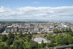 De horizon van Edinburgh Royalty-vrije Stock Afbeeldingen