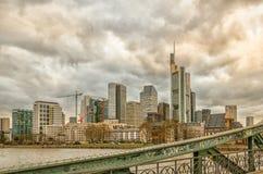 De horizon van Frankfurt Stock Fotografie